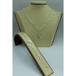 Дамски сребърен комплект Безкрайност 1703