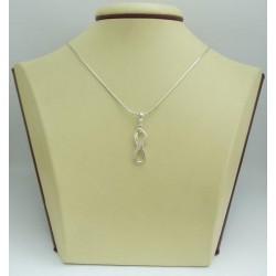 Дамски сребърен медальон Безкрайност