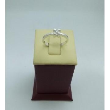 Дамски сребърен годежен пръстен 11