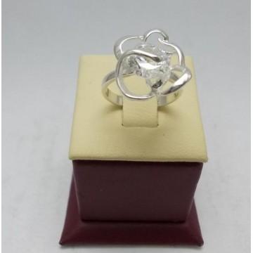 Дамски сребърен пръстен Роза Бланка