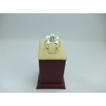 Дамски сребърен пръстен Кристална Прелест Аква
