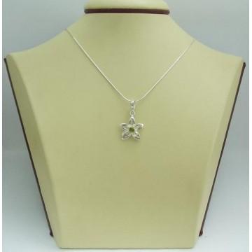 Дамски сребърен медальон Кристална Прелест Оливин