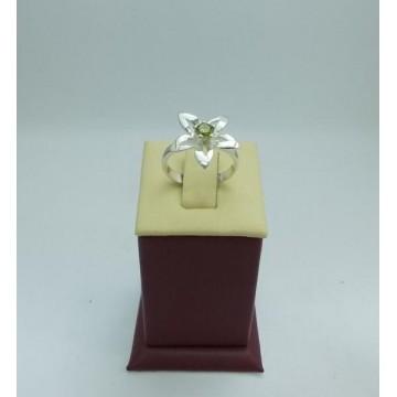 Дамски сребърен пръстен Кристална Прелест Оливин