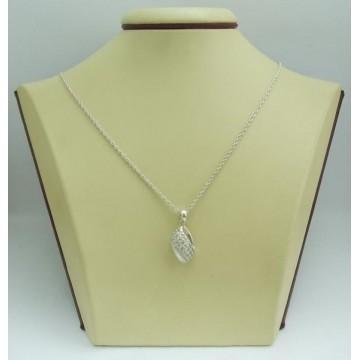 Дамски сребърен медальон Бонбон