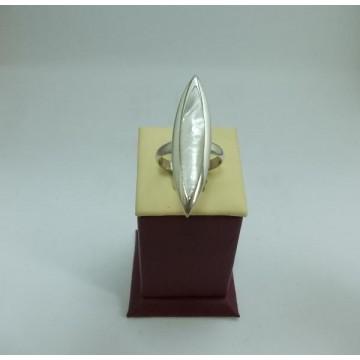 Дамски сребърен пръстен Седеф 5