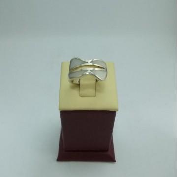 Дамски сребърен пръстен Седеф 20