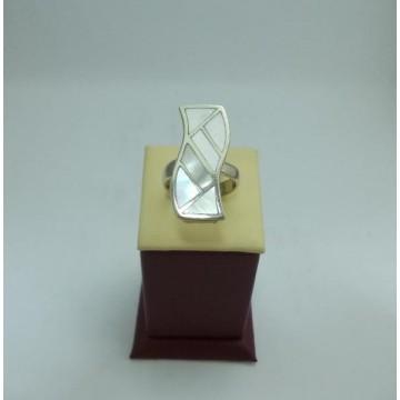 Дамски сребърен пръстен Седеф 21