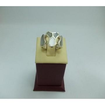 Дамски сребърен пръстен Седеф 23