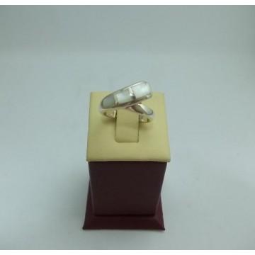 Дамски сребърен пръстен Седеф 24