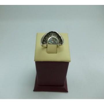 Дамски сребърен пръстен Седеф 31