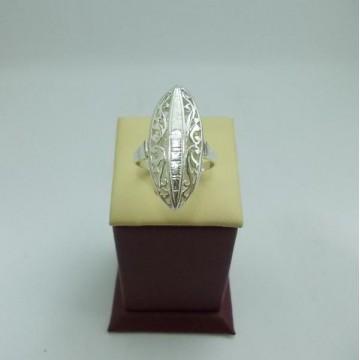 Дамски сребърен пръстен Бадем - Голям