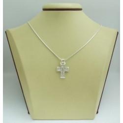 Дамски сребърен медальон Кръст