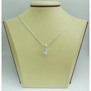 Дамски сребърен медальон Любов