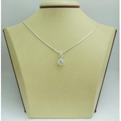 Дамски сребърен медальон Еделвайс