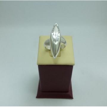 Дамски сребърен пръстен с бял циркон - Роял