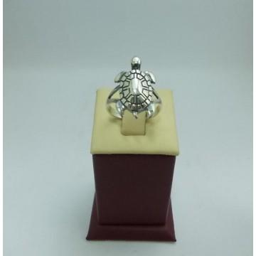 Дамски сребърен пръстен Костенурка
