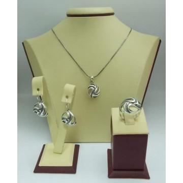 Дамски сребърен комплект Калинихта